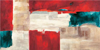 Cuadro canvas abstracto segment