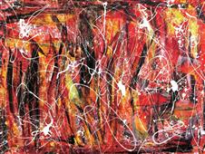 Cuadro canvas abstracto games in the sun