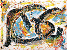 Cuadro canvas abstracto party time