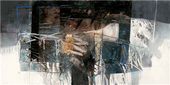 Cuadro canvas abstr la valle dai riflessi di creta