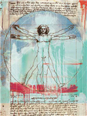 Cuadro canvas museo vitruvian man dos punto cero