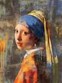 Cuadro canvas museo vermeer girl dos punto cero