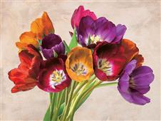 Cuadro canvas flores tulipani danzanti