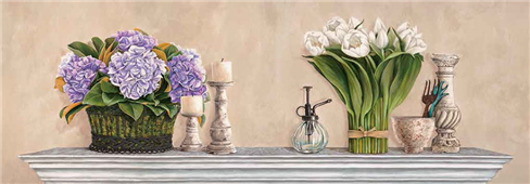 Cuadro canvas flores memoires du jardin