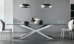 Mesa de comedor cristal Spyder Cattelan