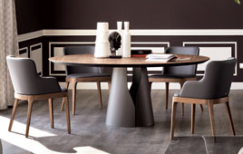 Mesa de comedor redonda Giano Cattelan