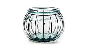 Velón de vidrio reciclado con hierro III