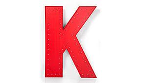 Objeto luminoso led K rojo - Apliques y Plafones - Iluminación