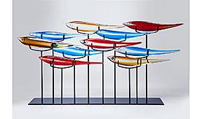 Objeto decorativo peces de colores - Figuras decorativas - Objetos de Decoración