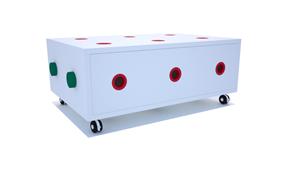 Mesa auxiliar modular C Natale Bianco - Muebles Auxiliares Infantiles y Juveniles - Muebles Infantiles