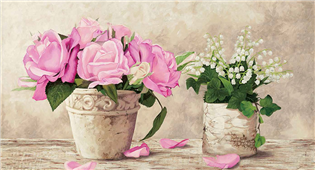 Cuadro canvas flores so french