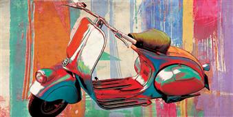 Cuadro canvas hommage vespa - Cuadros serigrafiados - Objetos de Decoración