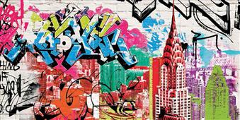 Cuadro canvas moderno pop manhattan