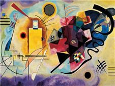 Cuadro canvas kandinsky yellow red and blue