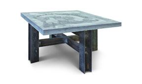 Mesa de comedor industrial Cubic