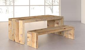 Mesa comedor Denver de madera centenaria