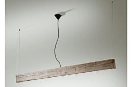 Lámpara techo Oregón madera centenaria