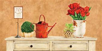 Cuadro canvas flores mon jardin dos