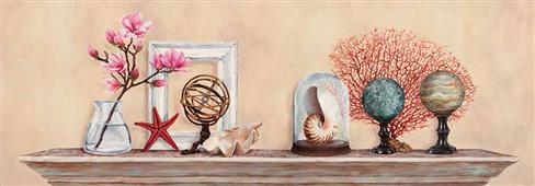 Cuadro canvas flores memories de voyage