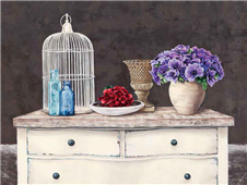 Cuadro canvas flores french trumeau