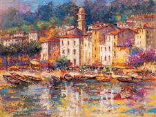Cuadro canvas paisaje portofino