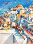 Cuadro canvas paisaje santorini