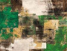 Cuadro canvas abstracto a dream in green