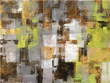 Cuadro canvas abstracto forest in springtime