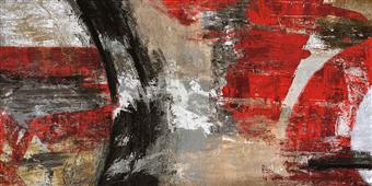 Cuadro canvas abstracto red tornado