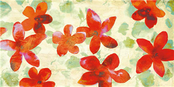 Cuadro canvas flores happy printemps
