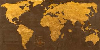 Cuadro canvas mapa geo dos