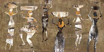 Cuadro canvas figurativo african dance
