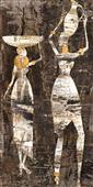Cuadro canvas figurativo africa dos