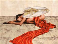 Cuadro canvas posado reclined angel