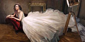 Cuadro canvas posado the white dress