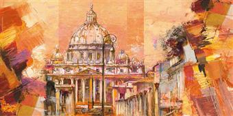 Cuadro canvas paisaje splendida roma
