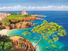 Cuadro canvas paisaje costa del mediterraneo