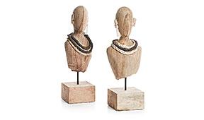 Set de 2 figuras busto mujer