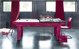 Billar mesa de comedor Leather