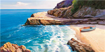 Cuadro canvas paisaje pomeriggio mediterraneo