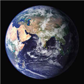 Cuadro canvas earth view from space asia