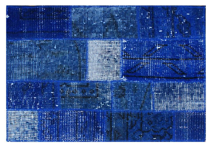 Alfombra de patchwork kilim azul no disponible en for Alfombra persa azul