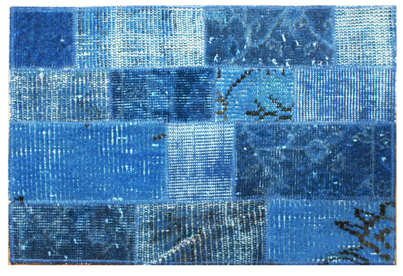 Alfombra de patchwork kilim indigo no disponible en - Alfombra patchwork ...
