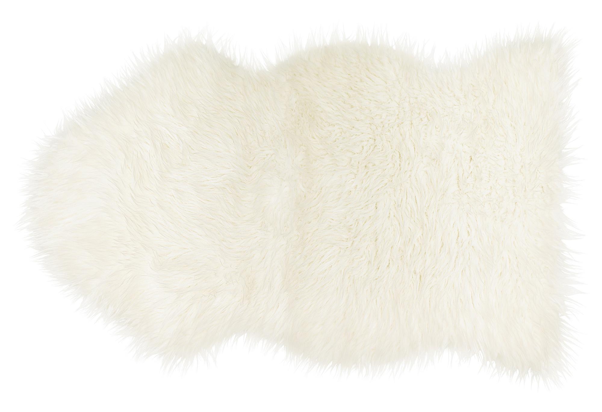 Alfombra piel de Mouton blanco