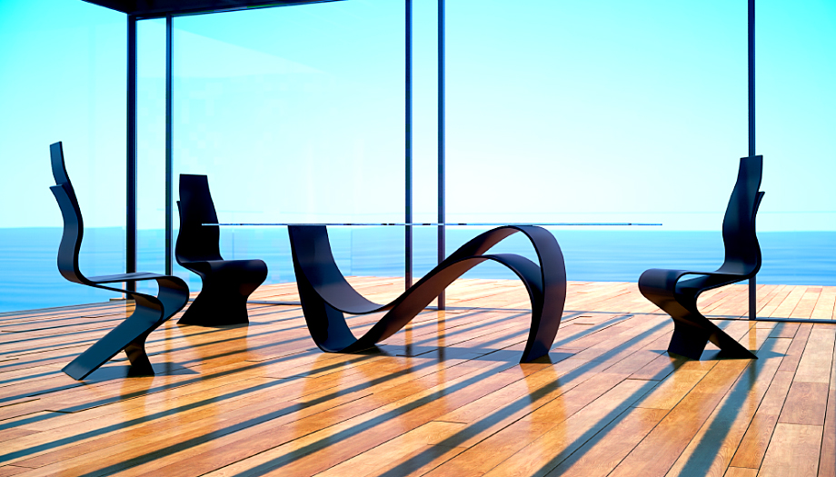Comedor moderno laminart en cosas de arquitectoscosas de for Muebles comedor diseno moderno