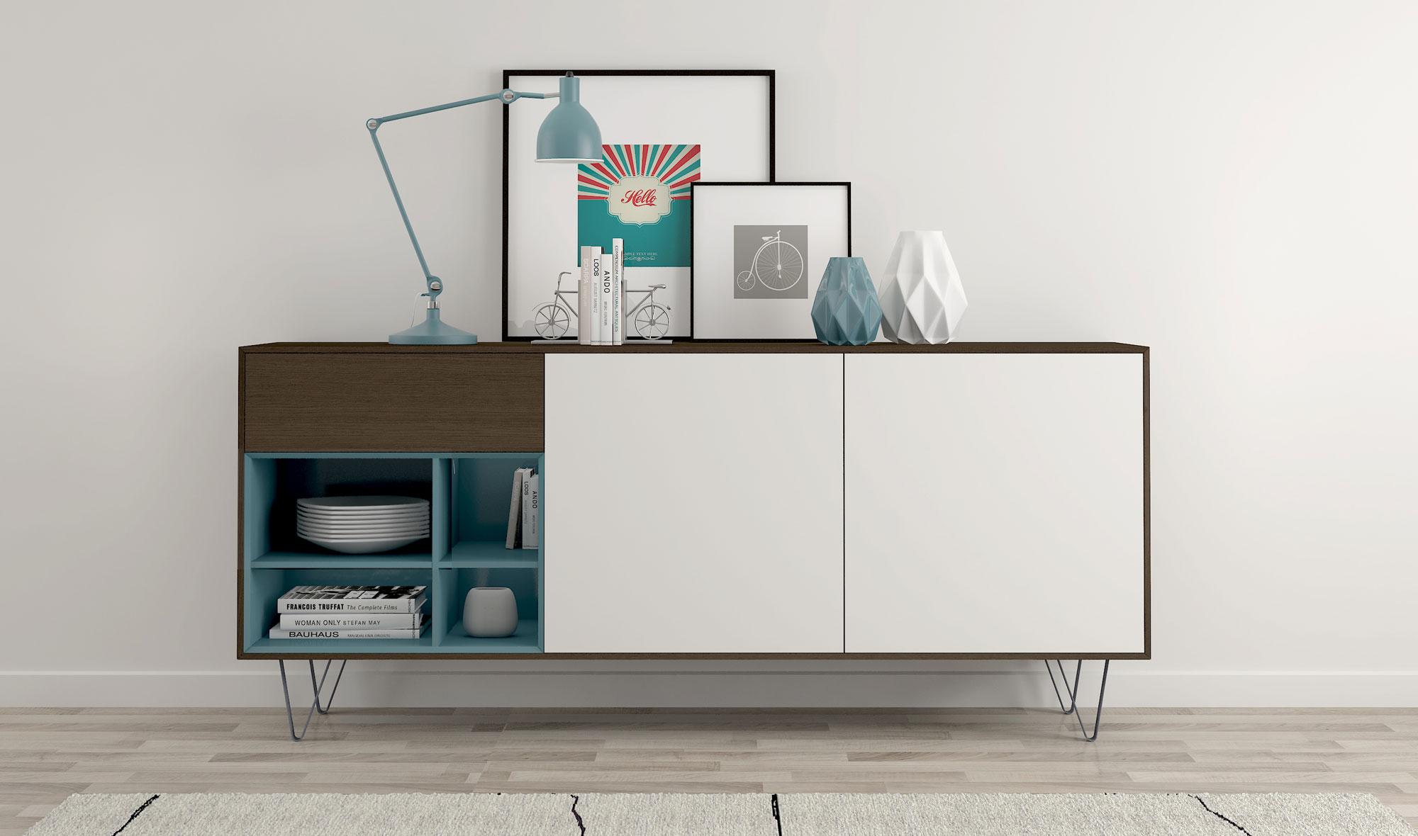 Aparador 1 Caj N N Rdico Mankel En Dec Shop # Muebles Nordicos