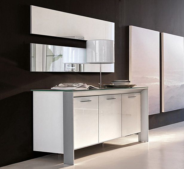 Aparador moderno 3 puertas miami tonin casa en cosas de for Mueble comedor minimalista