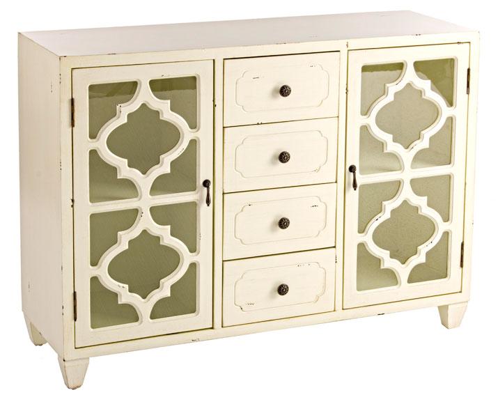 Aparador 4 cajones vintage jasmine no disponible en - Muebles blancos vintage ...