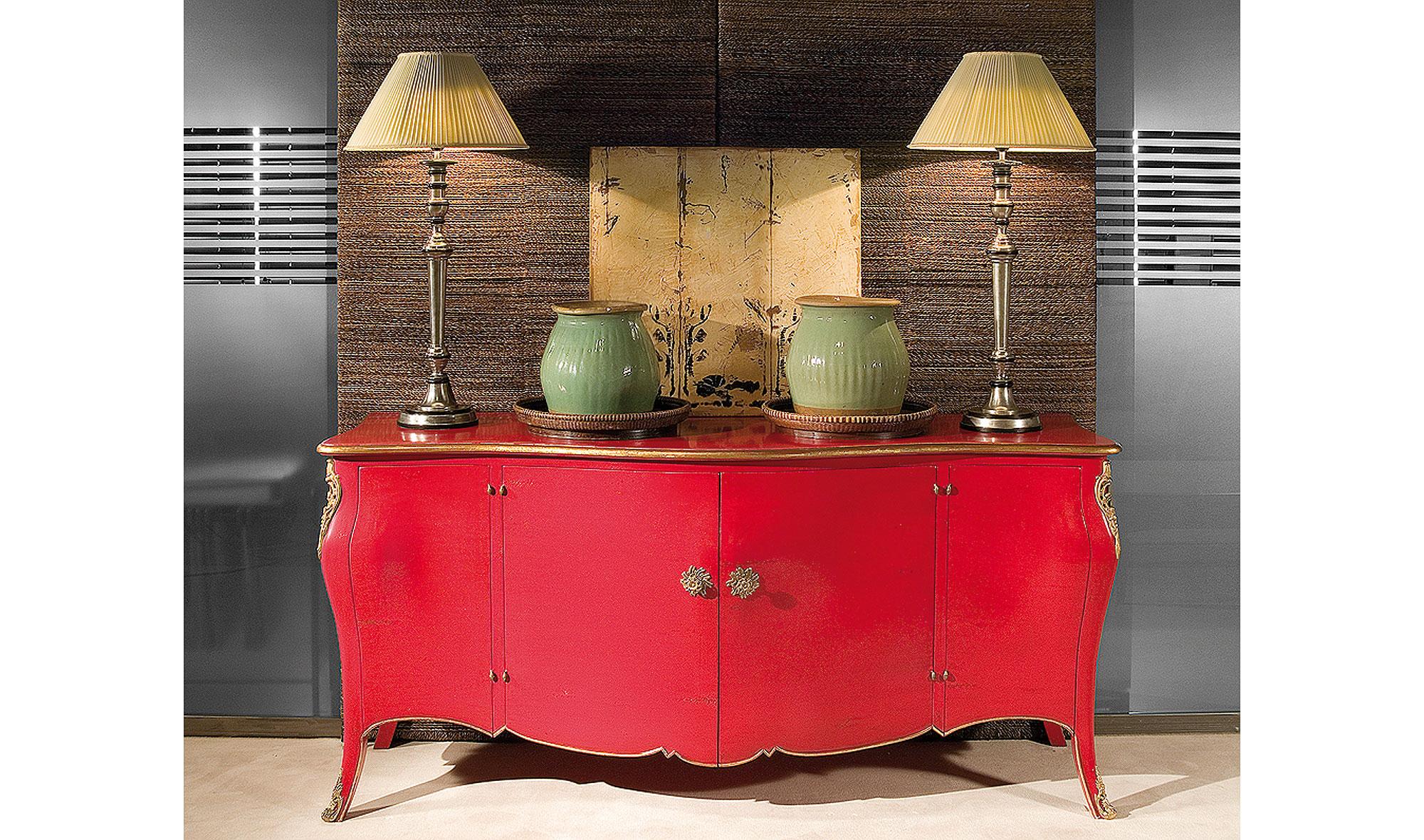 Aparador vintage regence rojo en - Mueble salon rojo ...