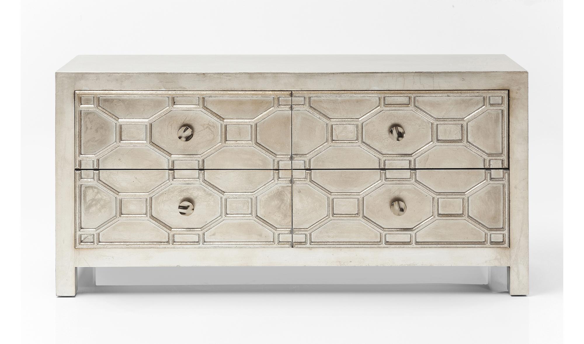 Aparador tnico alhambra 4 cajones en for Muebles maison du monde segunda mano